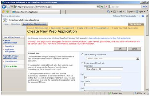 sharepoint 2010 2 web applications on port 80